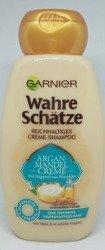 Garnier wahre Schätze Argan-Mandel Creme nährendes Creme-Shampoo  szampon krem migdałowy