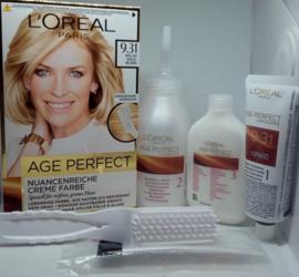 Loreal Paris Age Perfect Sehr Helles Goldblond  farba do włosów nr 9.31 jasny złoty blond
