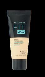 Maybelline Jade New York Fit me! Matte+Poreless mattierendes Make-up 105 Natural Ivory podkład matujący nr 105 naturalna kość słoniowa