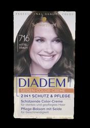 Schwarzkopf Diadem Mittelbraun nr 716  farba do włosów średni brąz
