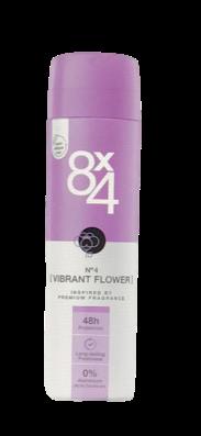 8x4 Deodorant Spray No. 4 Vibrant Flower dezodoranat spray  kwiatowo-owocowy