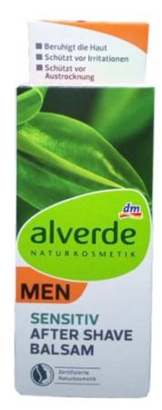 Alverde Men Naturkosmetik After Shave Balsam Sensitiv balsam po goleniu dla mężczyzn