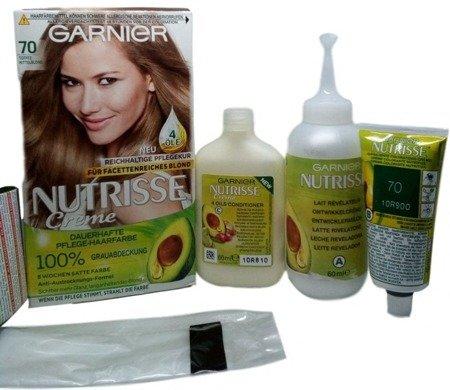 Garnier Nutrisse Creme Coloration 70 Toffee Mittelblond farba toffee średni blond nr 70