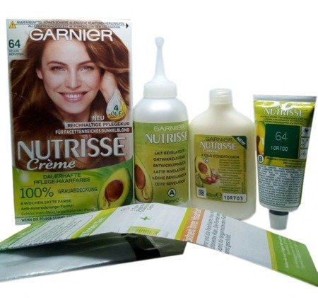 Garnier Nutrisse Creme Coloration Heller Bernstein 64 farba do włosów jansy bursztyn nr 64