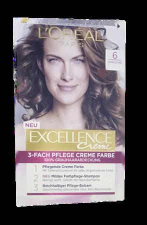 Loreal Paris Excellence Creme Coloration Dunkelblond farba do włosów nr 6 ciemny blond