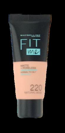 Maybelline Jade New York Fit me! Matte+Poreless mattierendes Make-up 220 Natural Beige podkład matujący nr 220 naturalny beż