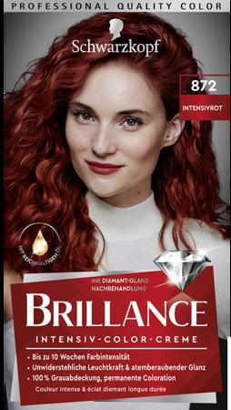 Schwarzkopf Brillance Haarfarbe Intensivrot 872 farba do włosów intensywna czerwień nr 872