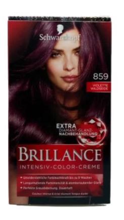 Schwarzkopf Brillance Violette Wildeseide 859 farba do włosów fioletowy dziki jedwab nr 859