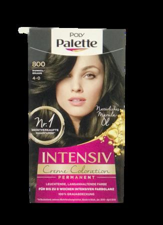 Schwarzkopf  Poly Palette Intensiv Creme Coloration Dunkelbraun farba do włosów ciemny brąz nr 800