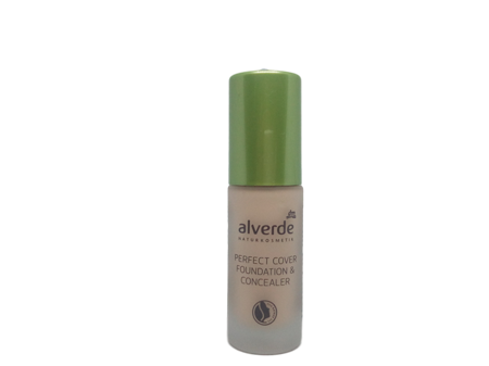 alverde Naturkosmetik Perfect Cover Foundation & Concealer Vanilla 10 podkład do twarzy wanilia nr 10